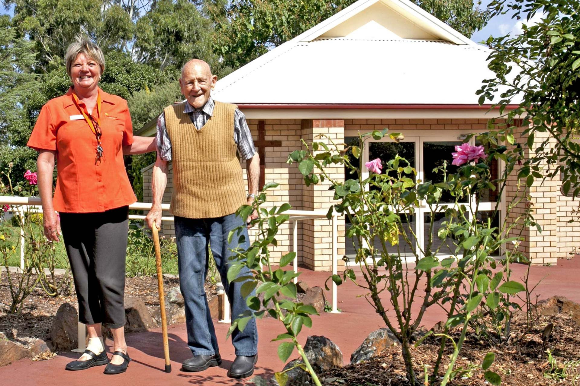 Our comfortable independent living units are surrounded by gardens with easy walking paths.